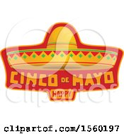 Clipart Of A Cindo De Mayo Design With A Sombrero Hat Royalty Free Vector Illustration by Vector Tradition SM