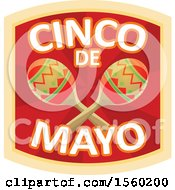 Clipart Of A Cindo De Mayo Design With Maracas Royalty Free Vector Illustration by Vector Tradition SM