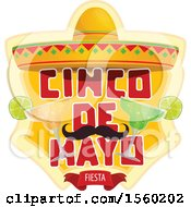 Clipart Of A Cindo De Mayo Design With A Sombrero Hat Mustache And Cocktails Royalty Free Vector Illustration by Vector Tradition SM