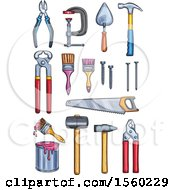 Poster, Art Print Of Sketched Tools And Paint