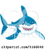 Grinning Great White Shark