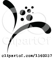 Clipart Of A Black And White Floral Damask Relief Design Element Royalty Free Vector Illustration
