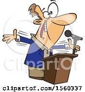 Cartoon White Male Politician Or Motiviational Speaker