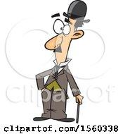 Clipart Of A Cartoon Man Charlie Chaplin Royalty Free Vector Illustration