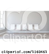 Clipart Of A 3d Room Interior With Chairs Royalty Free Illustration