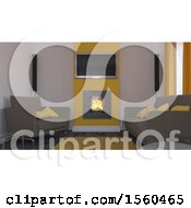 Clipart Of A 3d Room Interior Royalty Free Illustration