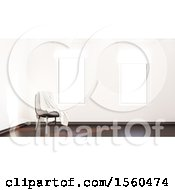 Clipart Of A 3d Room Interior With A Chair Royalty Free Illustration