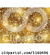 Clipart Of A Gold Sparkly Background Royalty Free Vector Illustration