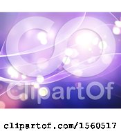 Clipart Of A Purple Flare Background Royalty Free Illustration