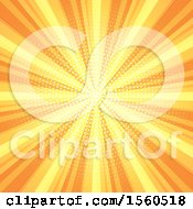 Clipart Of A Yellow And Orange Burst Background Royalty Free Vector Illustration
