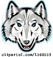 Clipart Of An Arctic Wolf Mascot Royalty Free Vector Illustration