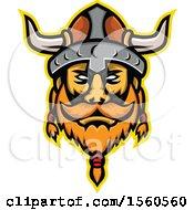 Retro Viking Warrior Mascot