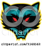 Clipart Of A Red Eyed Demonic Raccoon Mascot Royalty Free Vector Illustration