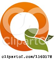 Clipart Of A Letter Q Or O Logo Design Royalty Free Vector Illustration