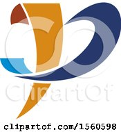 Clipart Of A Letter P Logo Design Royalty Free Vector Illustration