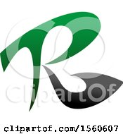 Clipart Of A Letter R Logo Design Royalty Free Vector Illustration