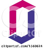 Clipart Of A Letter O Logo Design Royalty Free Vector Illustration