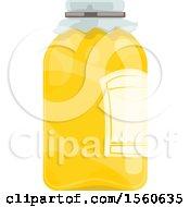 Clipart Of A Honey Jar Royalty Free Vector Illustration