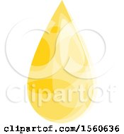 Clipart Of A Honey Drop Royalty Free Vector Illustration by Vector Tradition SM