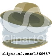 Clipart Of A Beekeeping Hat With A Veil Royalty Free Vector Illustration