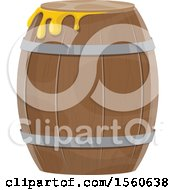 Clipart Of A Barrel Of Honey Royalty Free Vector Illustration by Vector Tradition SM