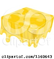 Clipart Of A Block Of Honey Royalty Free Vector Illustration by Vector Tradition SM