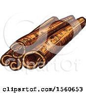 Sketched Cinnamon Sticks
