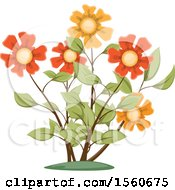 Clipart Of Flowers Royalty Free Vector Illustration