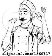 Black And White Male Chef Gesturing Perfect