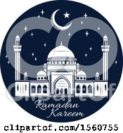 Clipart Of A Blue Ramadan Kareem Design Royalty Free Vector Illustration by Vector Tradition SM