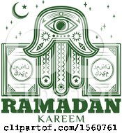 Clipart Of A Green Ramadan Kareem Design Royalty Free Vector Illustration by Vector Tradition SM