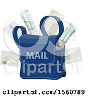 Clipart Of A Mail Bag Royalty Free Vector Illustration by Vector Tradition SM