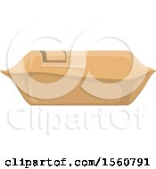 Clipart Of A Package Royalty Free Vector Illustration