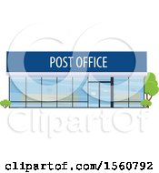 Clipart Of A Post Office Building Royalty Free Vector Illustration by Vector Tradition SM