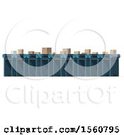 Clipart Of A Post Office Conveyor Belt Royalty Free Vector Illustration