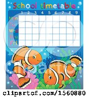 School Timetable And Clownfish Pair