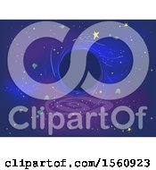 Clipart Of A Black Hole In Outer Space Royalty Free Vector Illustration