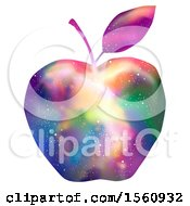 Clipart Of A Colorful Galaxy Apple Royalty Free Vector Illustration