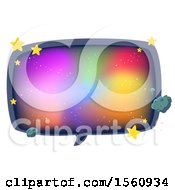 Clipart Of A Galaxy Speech Bubble With Stars Royalty Free Vector Illustration