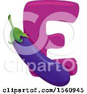 Letter E And Eggplant