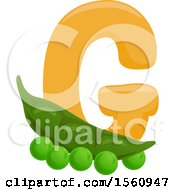 Letter G And Green Peas