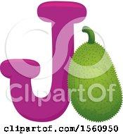Letter J And Jackfruit