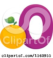 Clipart Of A Letter O And Orange Royalty Free Vector Illustration
