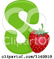 Clipart Of A Letter S And Strawberry Royalty Free Vector Illustration