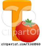 Letter T And Tomato