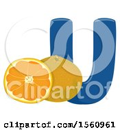 Clipart Of A Letter U And Ugli Royalty Free Vector Illustration