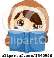 Happy Eskimo Boy Reading A Book