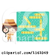 Poster, Art Print Of Detective Boy By A Word Search Puzzle