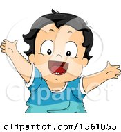 Clipart Of A Toddler Boy With New Teeth Royalty Free Vector Illustration by BNP Design Studio