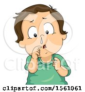 White Toddler Boy With A Runny Nose